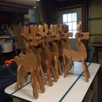 Click to enlarge image <B>OAK PULL-A-PART DEER</B> - <B>A RUSTIC COUNTRY CHARACTER</B>