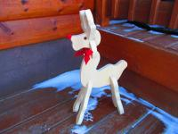 Click to enlarge image <B>PINE PULL-A-PART DEER</B> - <B>A FINISH YOURSELF PROJECT</B>
