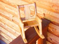 Click to enlarge image <B>SMALL ROCKING CHAIR</B> - <B>JUST THE RIGHT SIZE TO DISPLAY WITH A DOLL</B>