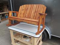 Click to enlarge image <B>GARDEN BENCH ROCKER 44&quot; SEAT WIDTH</B> - <B>BEAUTIFULLY MADE RUSTIC STYLE AND DURABILITY</B>
