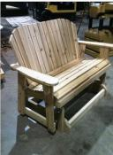 Click to enlarge image <B>GARDEN GLIDER BENCH 44&quot; SEAT</B> - <B>SEATS TWO COMFORTABLY</B>