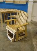Click to enlarge image <B>GARDEN GLIDER CHAIR 20&quot; SEAT WIDTH</B> - <B>INVITING AND DURABLE RUSTIC STYLE</B>